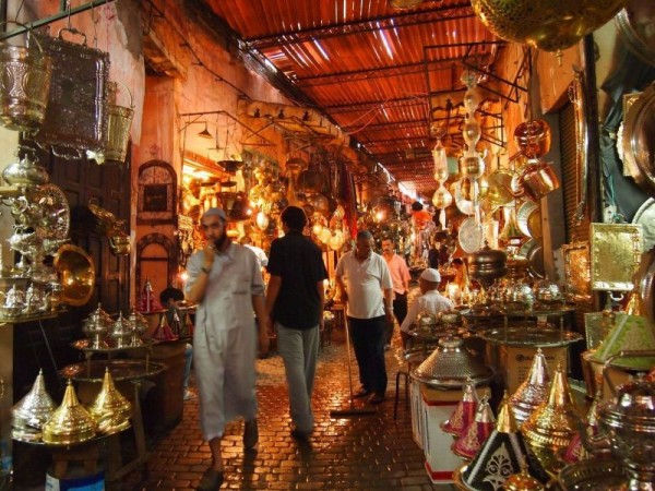 The Souk of Medina Quarter of Marrakech, Morocco