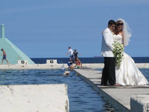 Just married at the Newcastle Baths (Photo © Aussie On The Road)