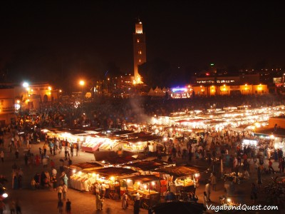 Jemaa el-Fna Square and Koutoubia Mosque (Marrakech, Morocco)