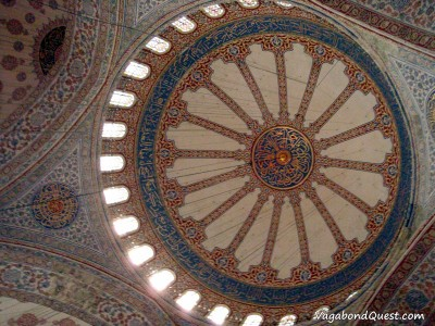 The ceiling decoration of the Blue Mosque