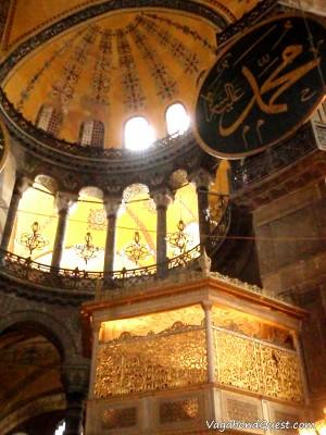 Inside Hagia Sophia (Istanbul, Turkey)