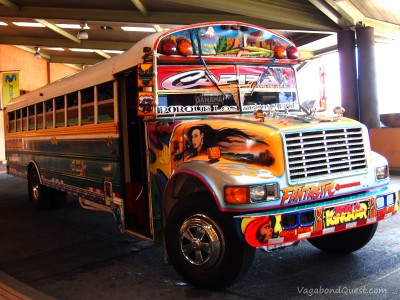 "Chicken bus in Panama City: ""Diablo Rojo"" or the red devil"