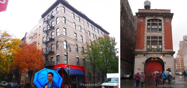 Left: Friends TV-show apartment. Right: Ghostbusters' fire station