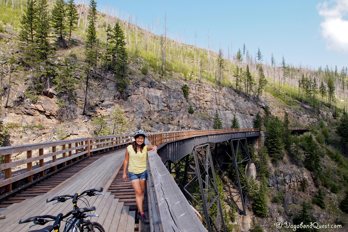 Cycling over Spectacular Railway Bridges the Kettle Valley