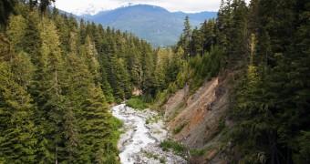 Canada BC Whistler Zipline view VQ